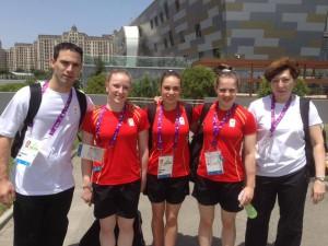 Belgický tým v Baku