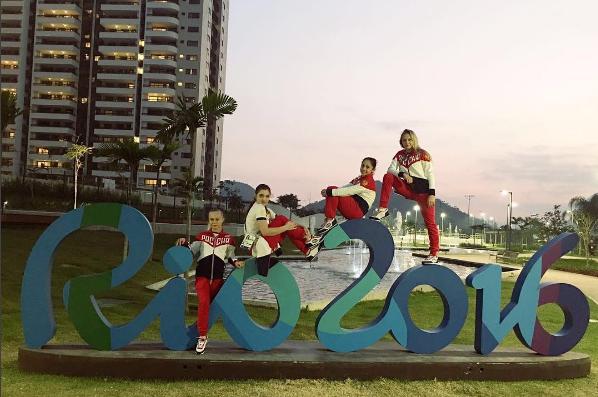 Ruský tým: Aliya Mustafina, Seda Tutkhalyan, Angelina Melnikova a Daria Spiridonova. Na obrázku chybí Maria Paseka. Zdroj: Instagram