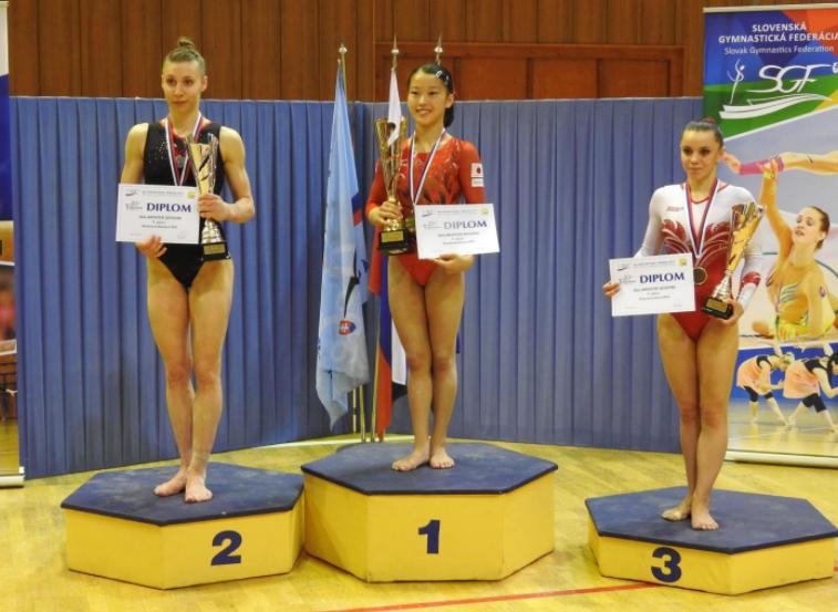 Stupně vítězů, ženy. Zdroj: Slovenská gymnastická federace